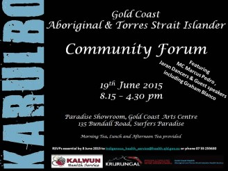 Karulbo Community Forum Flyer Website