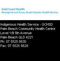 Indigenous Health Service – GCHSD
